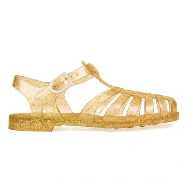 906f858d52b Sandales Pailletées Sun Doré Meduse Chaussure Adolescent