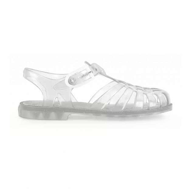 510058b3ae3 Glitter Sun Jelly Shoes Silver