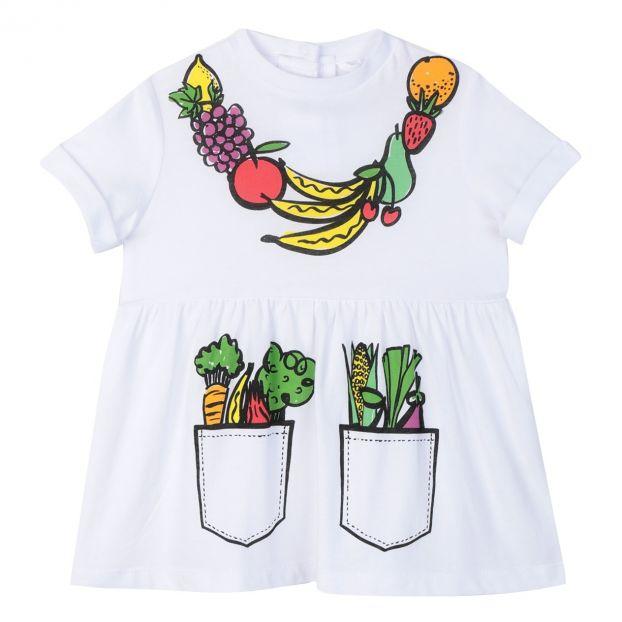 f244ecc38aa5b Organic cotton dress White Stella McCartney Kids Fashion Baby