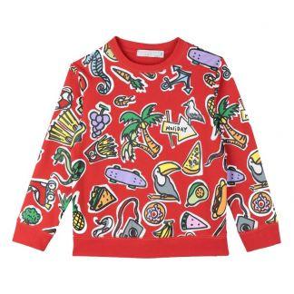 febaa614467e Stella McCartney Kids Organic cotton sweatshirt-listing