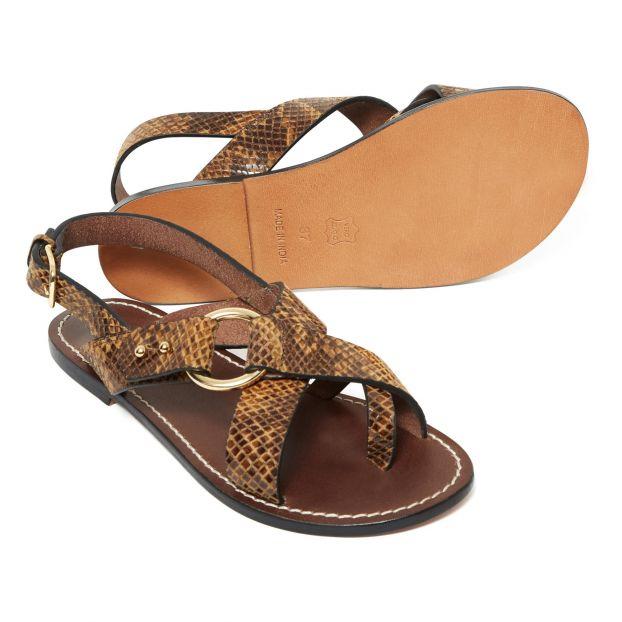 Adulte Nn0mv8ow Python Marron Florence Plates Chaussure Sandales Soeur 0wnNO8XPk