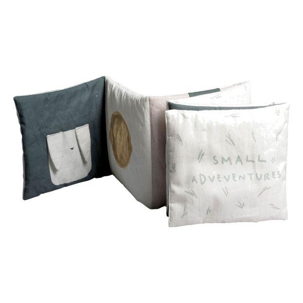 Livre Doudou Sensoriel En Coton Bio