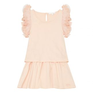 ccec25bb6 Robe Volants Rose