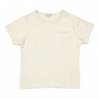 34330826f Caramel Wisteria cotton and linen T-shirt-listing