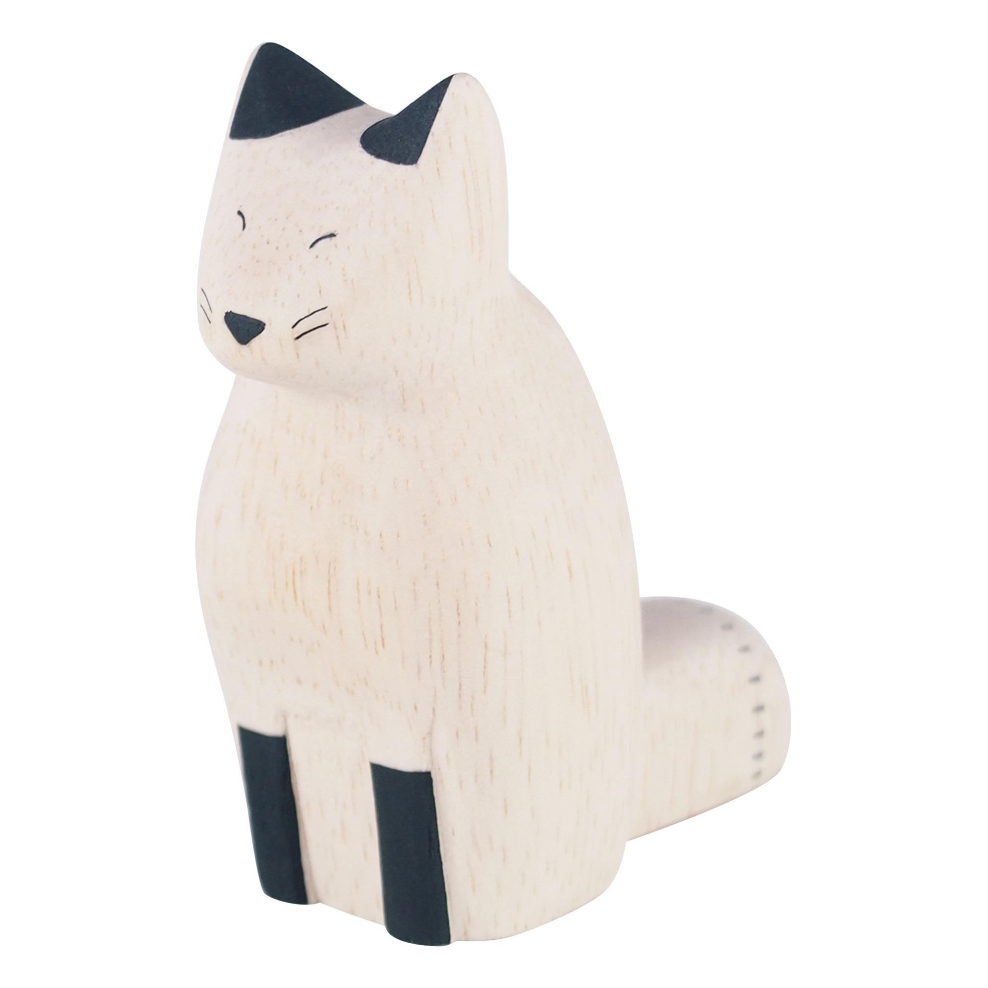 T-Lab - Figurine en bois Renard - Blanc