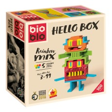 product-Bioblo Jeu de construction Hellobox - Set de 100 pièces