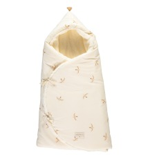 product-Nobodinoz Cozy Organic Cotton Bunting Bag with Polar Fleece Lining