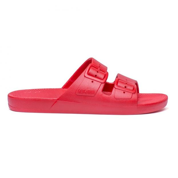 ed022f8bbc5ae Sandales Basic Rouge Moses Chaussure Adolescent