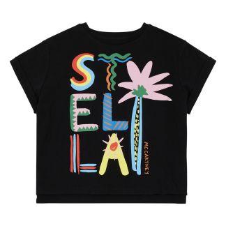 134b7c07410 Stella McCartney Kids Stella palm tree organic cotton T-shirt-listing
