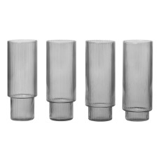 product-Ferm Living Ripple long glasses - Set of 4
