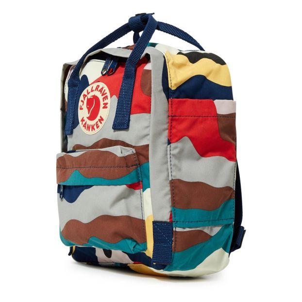 Kanken Art Mini backpack Blue Fjallraven Fashion Teen , Children