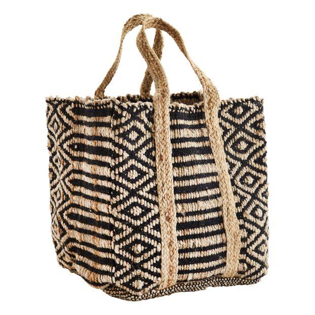 Jute Basket Bag Black by Smallable