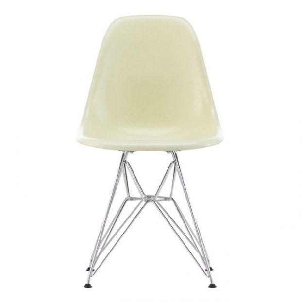 Dsr Fibreglass Chair Charles Ray Eames 1950 Cream Vitra