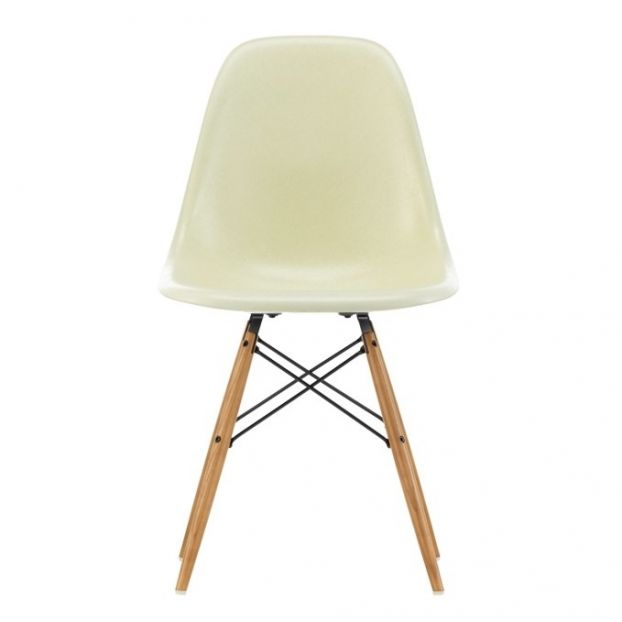 Wondrous Dsw Fibreglass Chair Charles Ray Eames 1950 Cream Caraccident5 Cool Chair Designs And Ideas Caraccident5Info