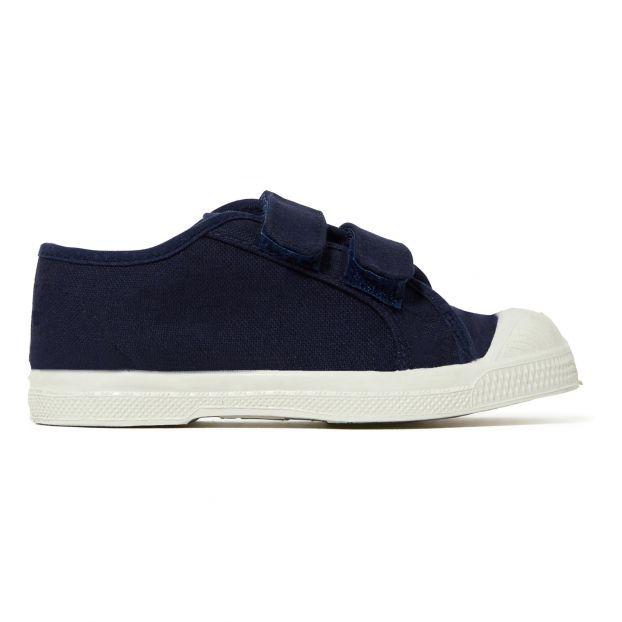 965cabf1d3823c Velcro plimsolls Navy blue Bensimon Shoes Children
