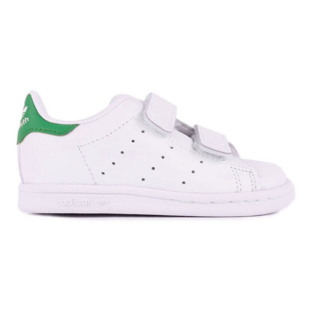c3aea3b48a50f Two Strap Velcro Stan Smith Trainers Green Adidas Shoes Baby