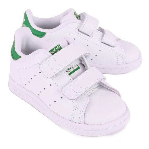 Grün Adidas Teenager Smith Schuh Klettverschluss Stan Turnschuhe nwm0v8N